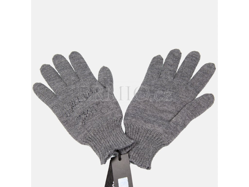 Elegantní šedé rukavice Justcavalli