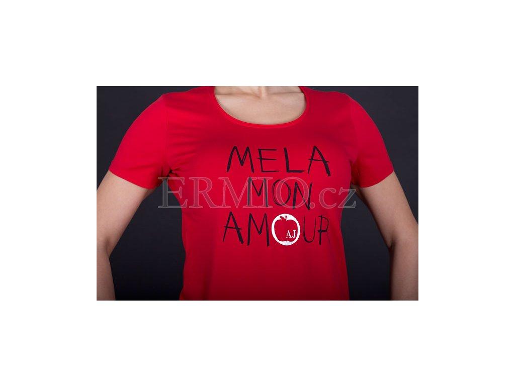 48f5e1131543 Luxusní Dámské značkové tričko Armani červené v e-shopu   Ermio Fashion