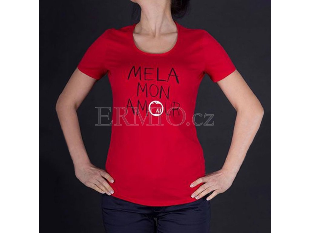 Dámské značkové tričko Armani červené