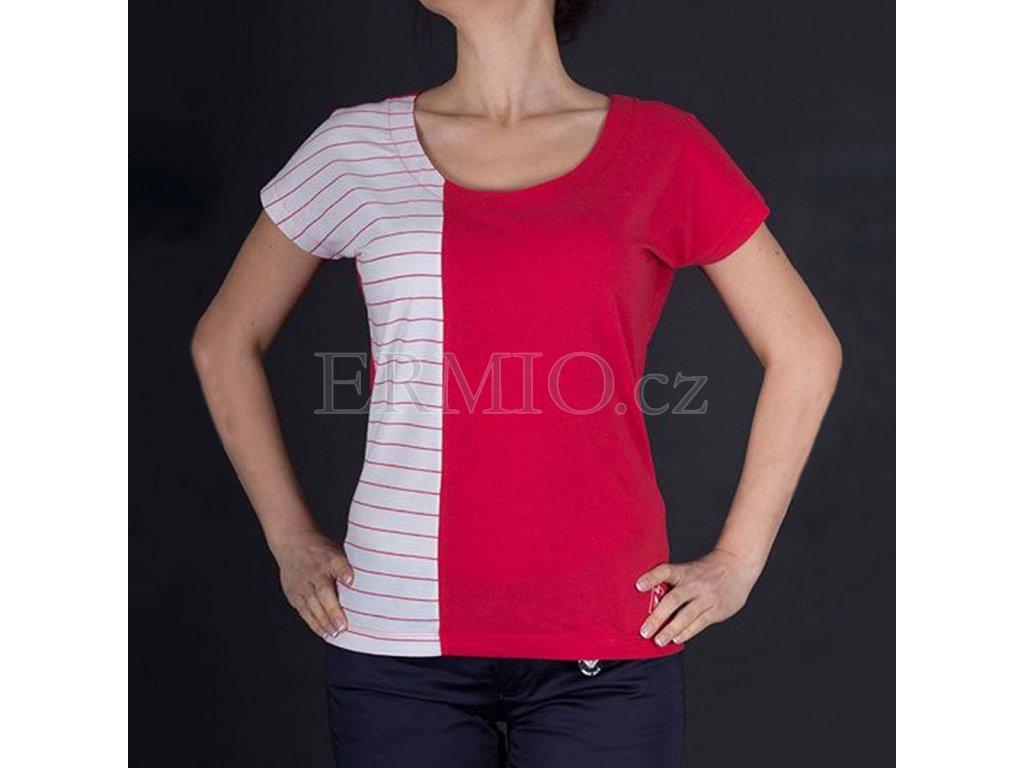 Značkové dvoubarevné tričko Armani
