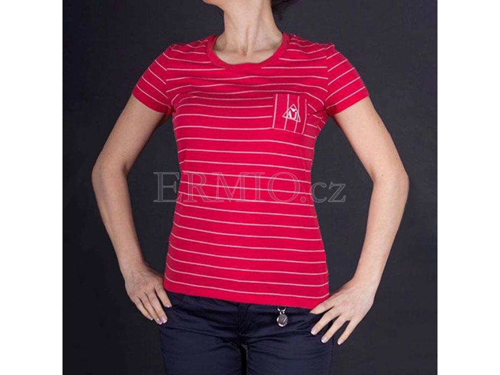 Proužkované dámské tričko Armani