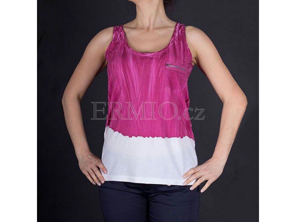 Značkové malinové tričko Armani