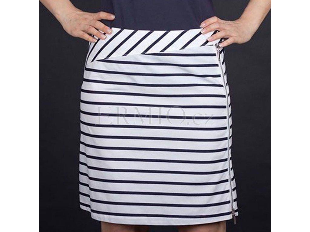 Proužkováná značková sukně Armani