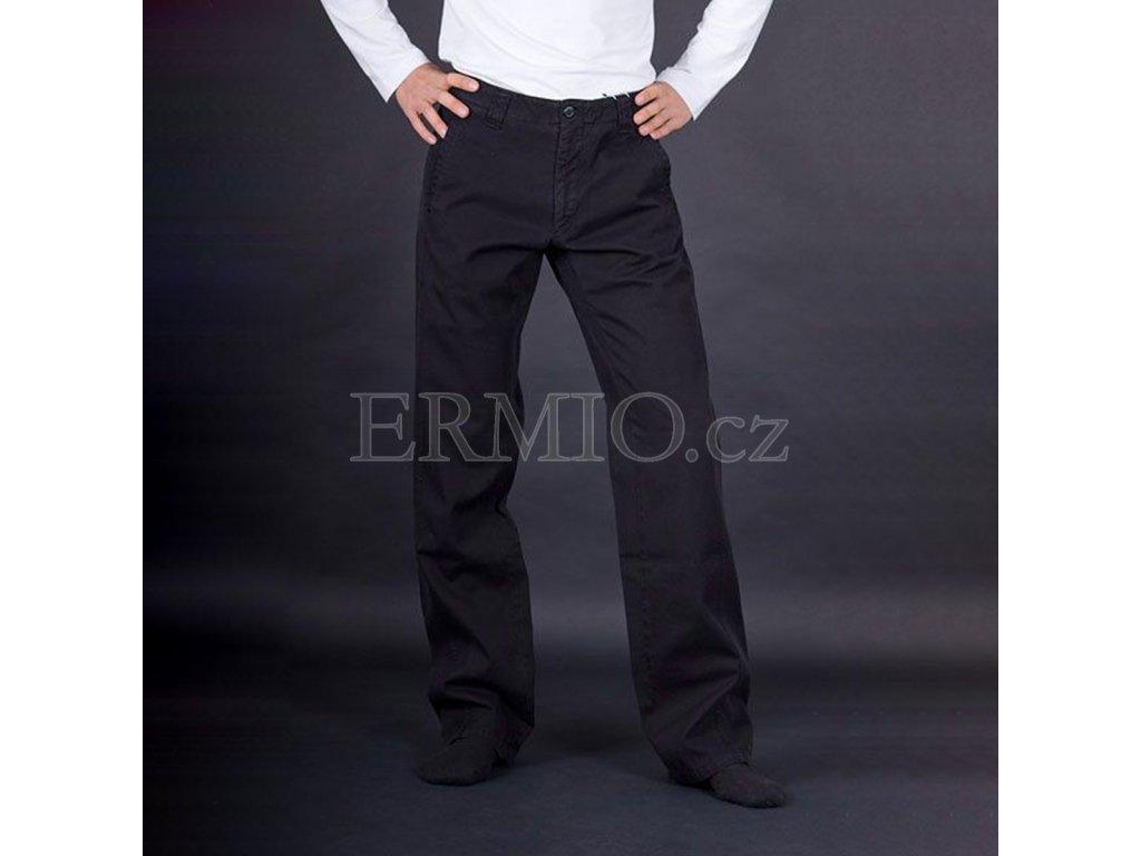 Kalhoty pánské černé Armani