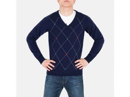 Pánský modrý pulovr Romeo Gigli