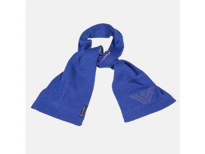 Krásná modro- šedá šála Armani Baby