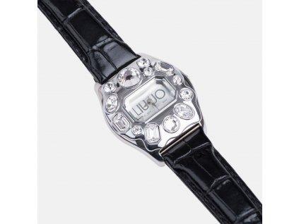 Exkluzivní černé hodinky Liu-Jo s kamínky