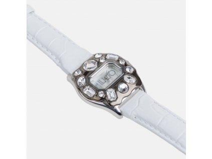 Exkluzivní hodinky Liu-Jo bílé s kamínky
