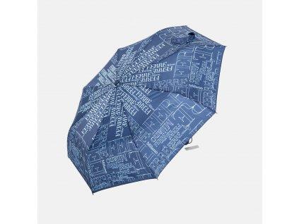 Značkový modrý deštník GF  Ferré