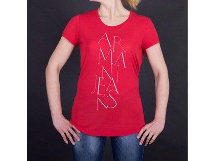 Značkové dámské triko Armani červené