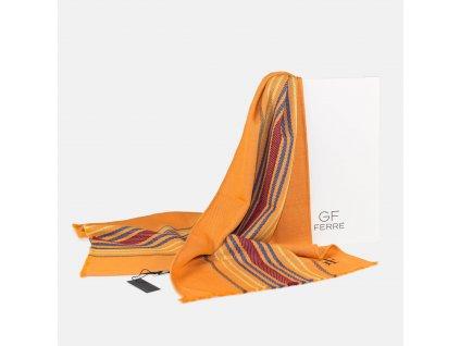 Elegantní oranžová šála GF Ferré
