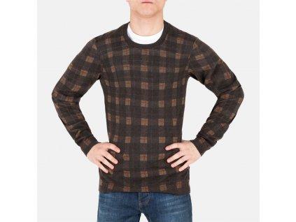 Pánský hnědý svetr Hugo Boss