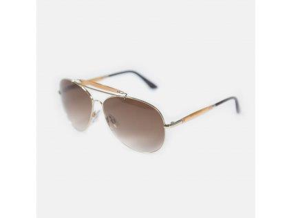 Designerské sluneční brýle John Galliano hnědý obrub