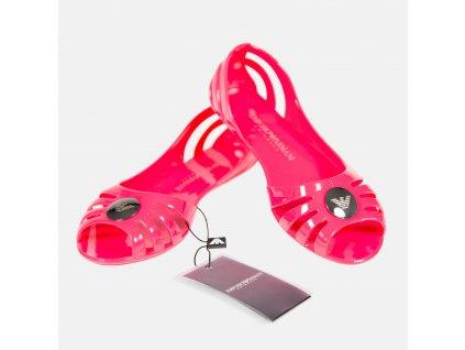 Nádherné růžové dámské balerínky Emporio Armani