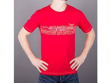 Značkové pánské červené tričko AJ