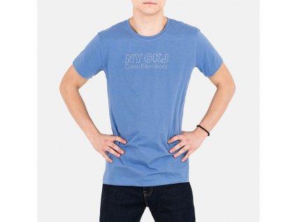 Luxusní pánské modré tričko CKJ