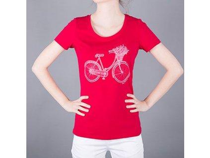 Tričko dámské AJ červené