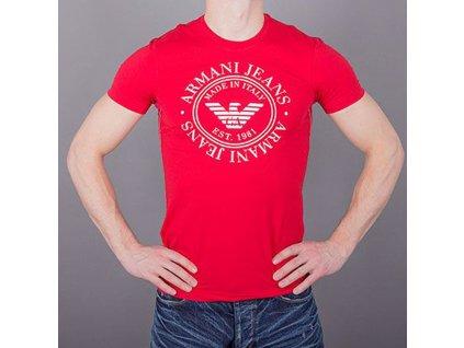 Pánské červené tričko Armani