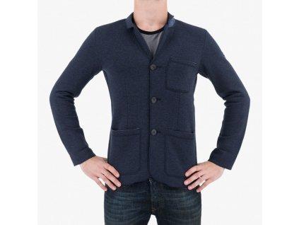 Modrý kabát Armani Jeans