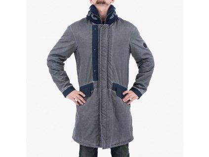 Modrošedý kabát Armani Jeans