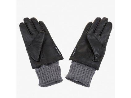 Černé rukavice Armani Jeans