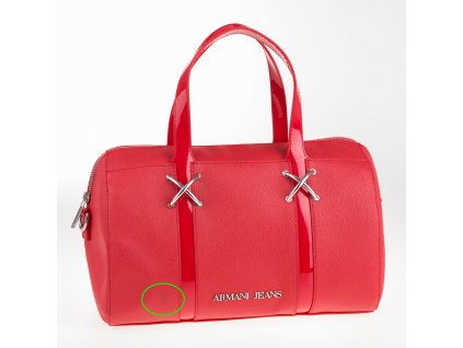 Červená kabelka Armani Jeans