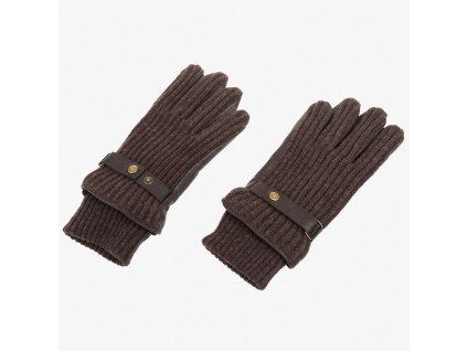Hnědé rukavice Armani Jeans