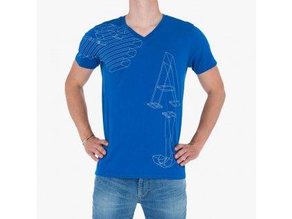 Modré tričko Armani Jeans