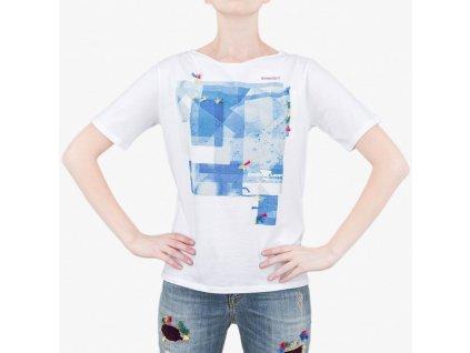 Bílé tričko Armani Jeans