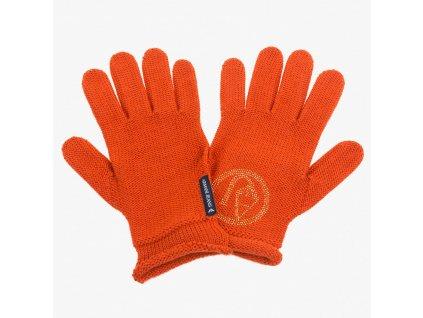 Oranžové rukavice Armani Jeans
