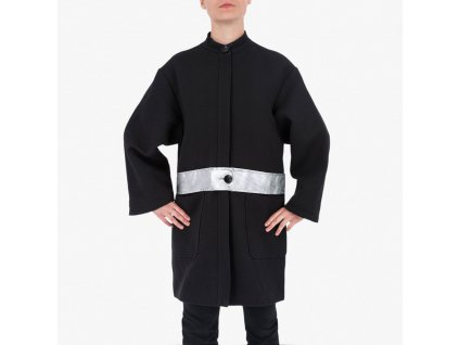 Černý kabát Armani Jeans