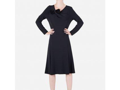 Luxusní dámské černé šaty Armani Collezioni