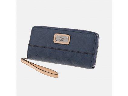 Nádherná antracitová peněženka GUESS