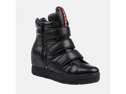Dámské kožené boty PRADA
