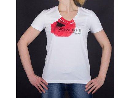 Značkové dámské tričko Armani bílé