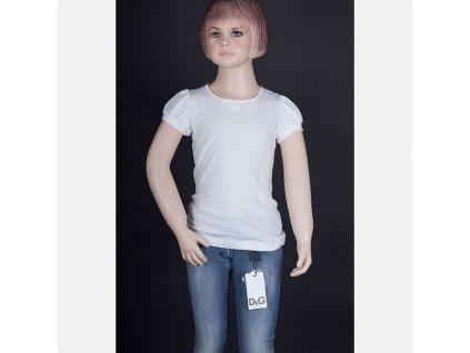 Značkové dětské tričko D&G bílé
