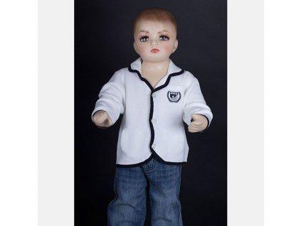 Dětský značkový svetr Armani bílý