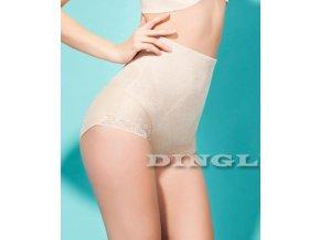 Stahovací kalhotky s výšivkou - tělová