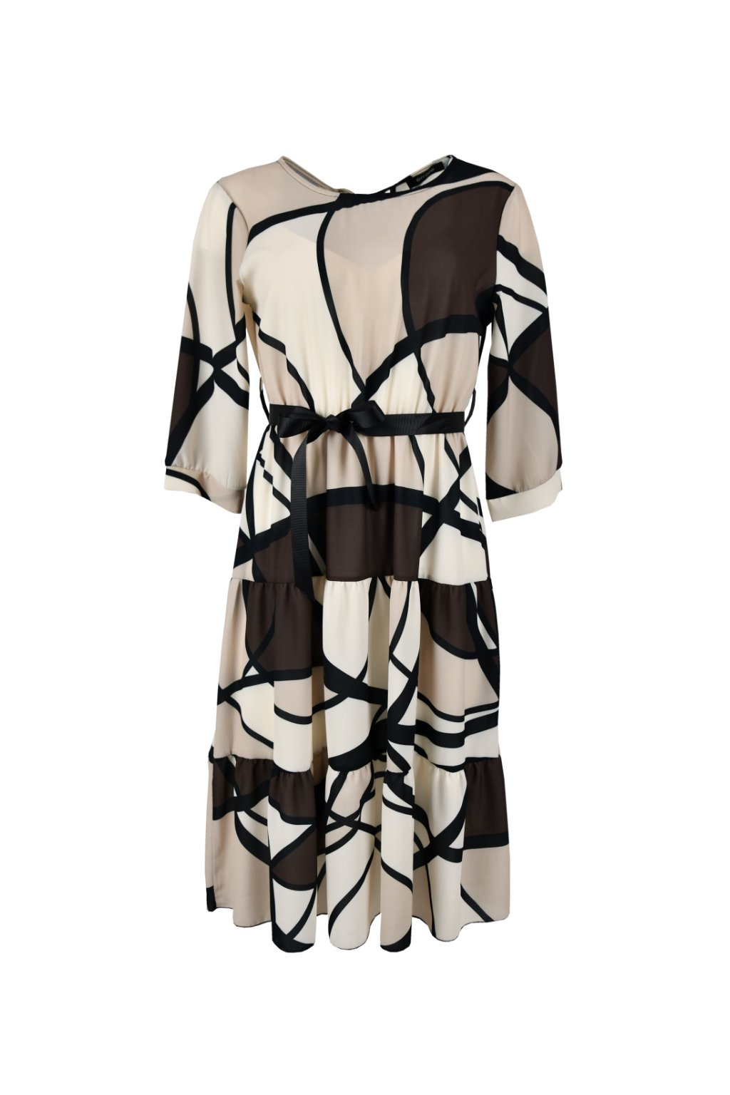 Šaty s volánovou sukňou - NICE PRINT