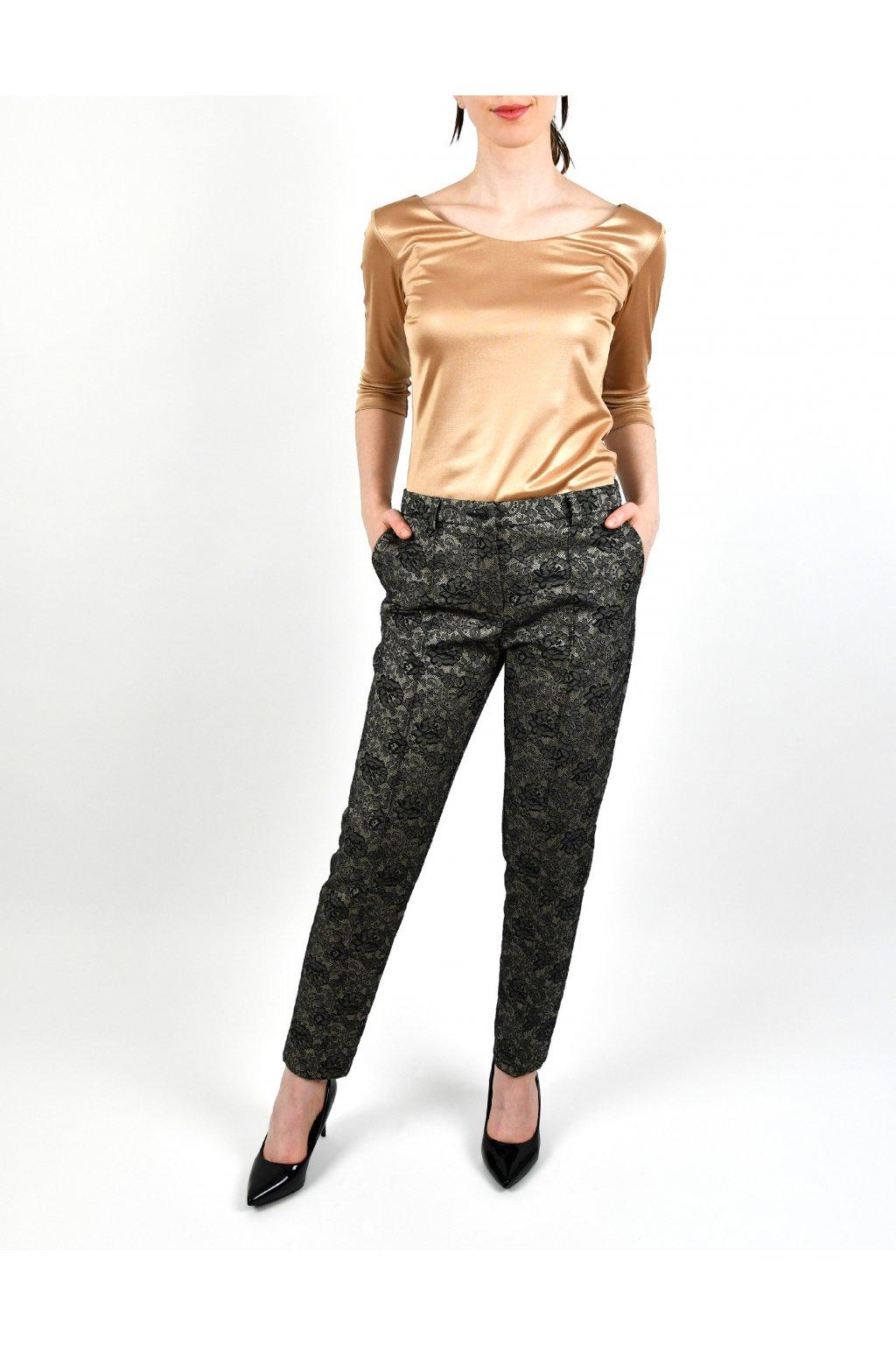 Nohavice kvetované s pukom - JEWEL