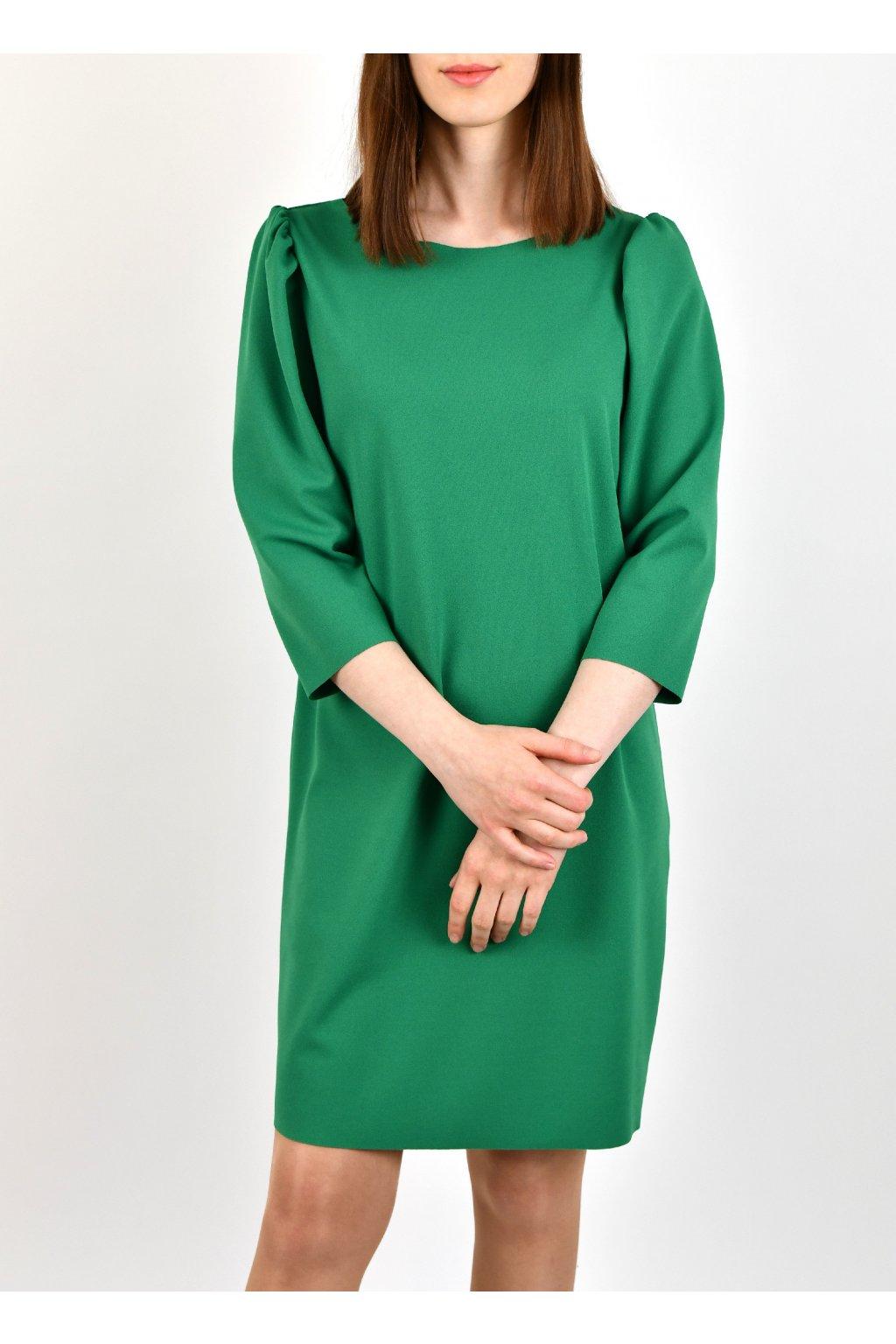 Šaty s nariasenými rukávmi - VI-VERDE