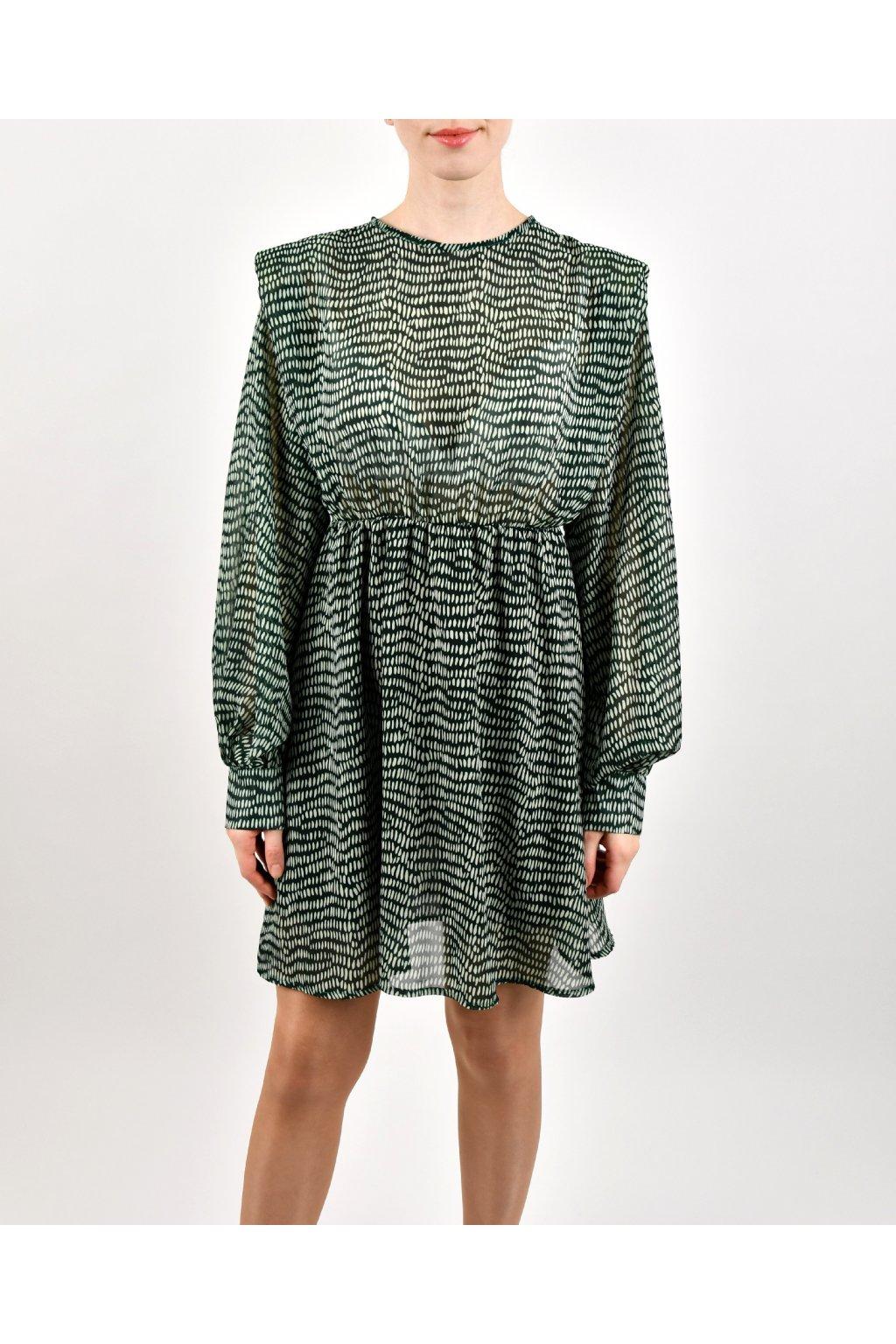 Šaty s vypchávkami - VERDE PRINT SH
