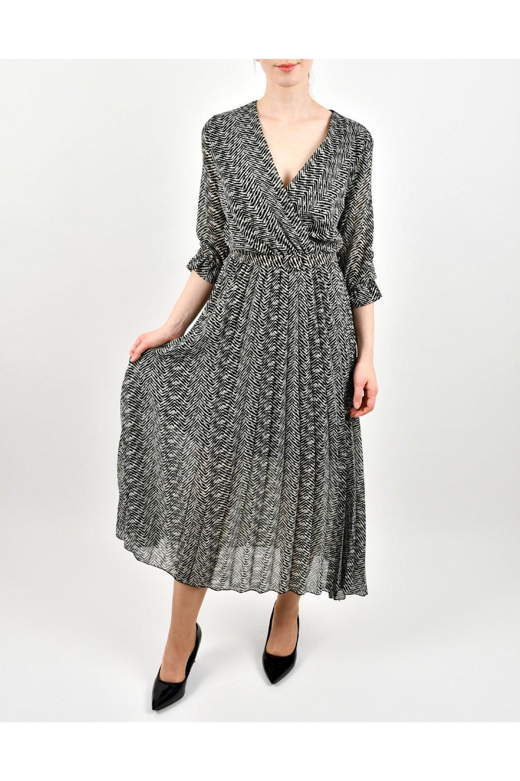 Šaty s opaskom - CB PLISEE LONG