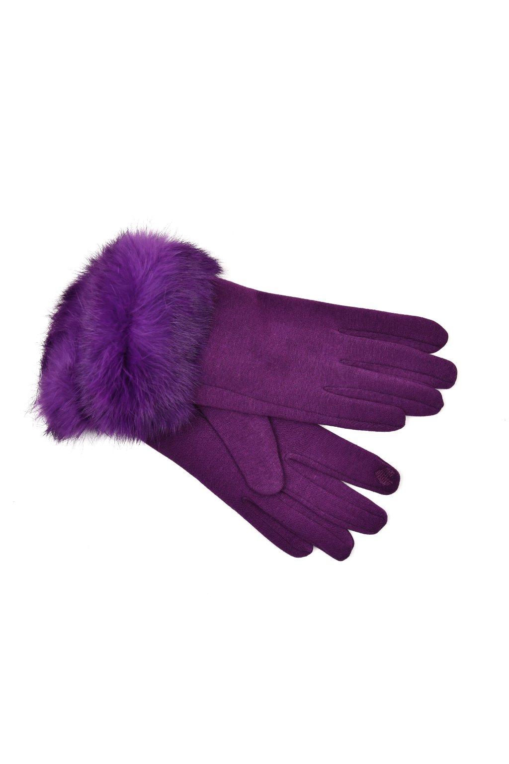 rukavice fialove