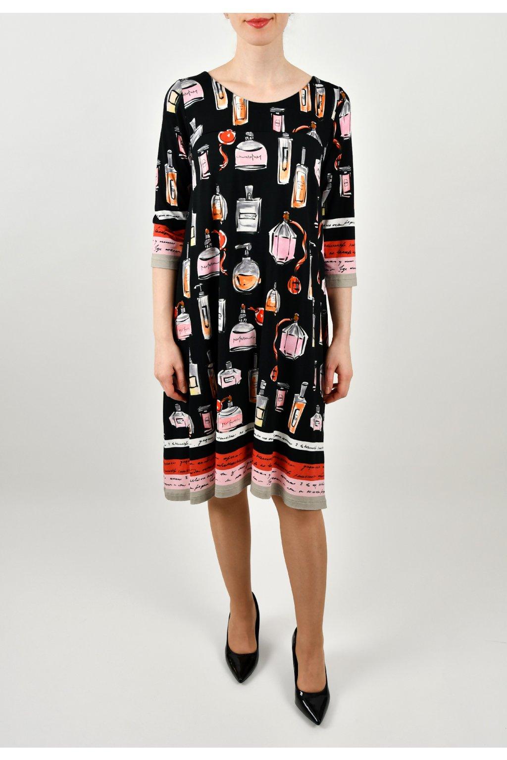 Šaty voľného strihu - PARFUMS