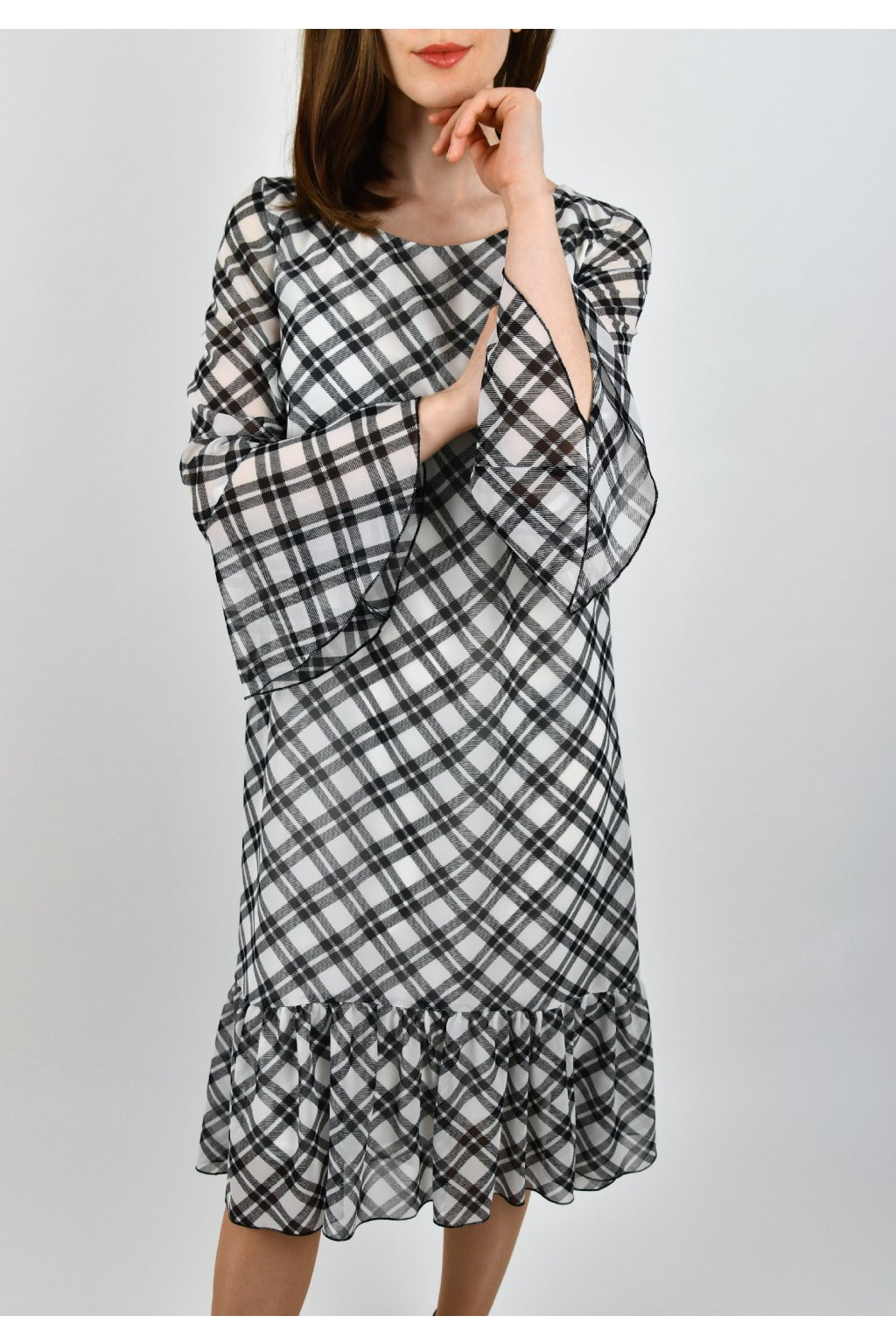 Šaty s volánom - TARTAN VOLAN