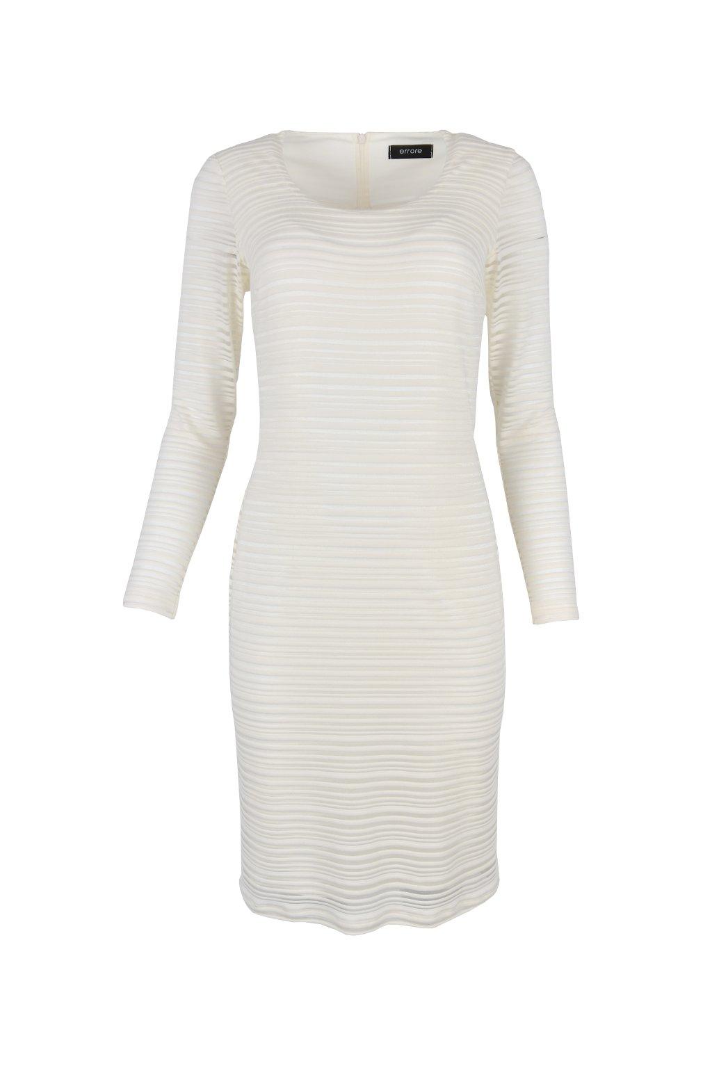 Šaty elegantné prúžkované - BRUGNATO WHITE