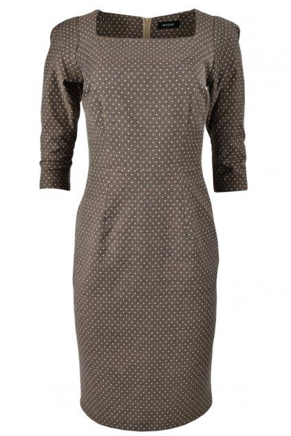 Šaty prestrihnuté v páse - ALFREDA/DOT