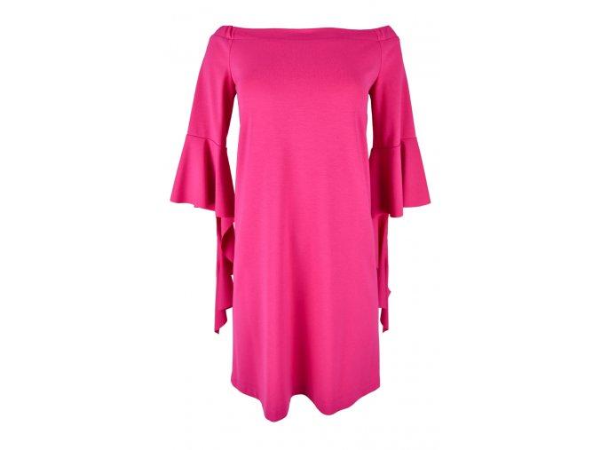Šaty voľného strihu - PINK SLEEVES