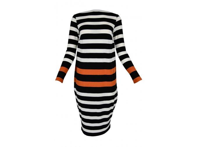 Šaty voľného strihu - VIS STRIPE L